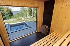 Bildlista Sauna House, Sauna Room, Home Spa Room, Spa Rooms, Modern Saunas, Temple Spa, Jacuzzi, Outdoor Sauna, Sauna Design