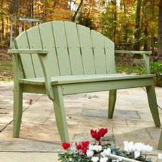 Outdoor Uwharrie Plaza Patio Bench with Arched Back - P074-019W