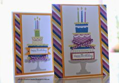 Birthday Cake Cards using Close to My Heart ~ Confetti Wishes