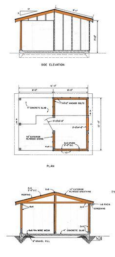 Abri de jardin look scandinave abris et garages de for 12x16 shed floor plans