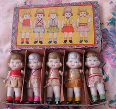 Vintage bisque flapper dolls!