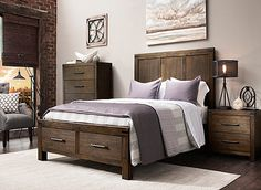 Visit a Raymour & Flanigan Furniture Store or go to RaymourFlanigan.com to see & learn how to decorate around the Gannon Casual Bedroom Collection.