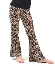 This Brown & Beige Cheetah Flare Pants - Girls by Dinamit Jeans is perfect! #zulilyfinds