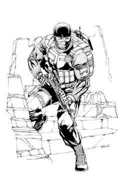 DS 675 Transformers Inks by RobertAtkins on DeviantArt Comic Book Artists, Comic Books, Snake Eyes Gi Joe, Art Studio Room, Joker Dc Comics, Superhero Coloring, Sketch Poses, Gi Joe Cobra, 90s Cartoons