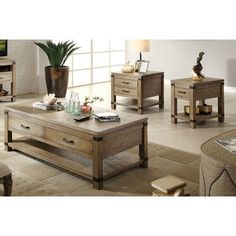 Riverside Furniture Bay Cliff Coffee Table Set -3 piece set - $1,213