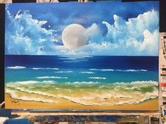 simple sky/foreground for beginners (acrylic) - YouTube