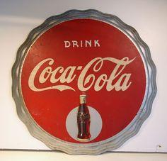 "Vintage Bottle Cap ""Drink Coca Cola"" Sign by Kay Displays Inc | eBay"