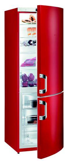 For a fashionable kitchen... Gorenje Red Fridge Freezer / cheaper alternative to…