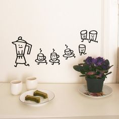 modern wall stickers for kitchen design | design, wall decor and ... - Sticker Cucina