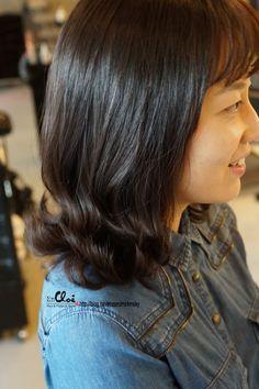 엔끌로에 목혁수,여자,미듐,c컬 Medium Hair Styles, Long Hair Styles, Asian, Classic, Modern, Derby, Trendy Tree, Medium Length Hairdos, Long Hairstyle