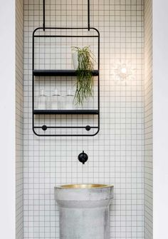 Reception / water fountain - Tiling inspo
