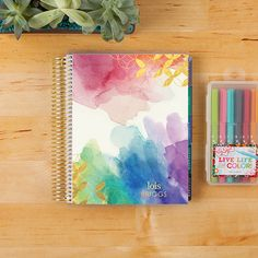 2016-17 #ECLifePlanner in Multi Watercolor. Choose your interior color theme (neutral or colorful), and then your weekly layout (weekly, horizontal or vertical)! #ErinCondren