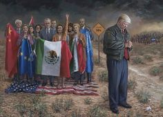 "US President Donald J. Trump :""National Emergency"" - By Jon McNaughton Jon Mcnaughton, Special Interest Groups, Open Signs, Human Trafficking, Pretty Cool, Donald Trump, Presidents, Arizona, Fine Art"
