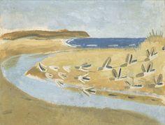 Sandpipers, Alnmouth - Winifred Nicholson , 1933 British, Oil paint and sand on plywood , 635 x 762 mm Winifred Nicholson, William Nicholson, Tate Gallery, Post Impressionism, Art Uk, Modern Artists, Sea Birds, Landscape Art, Landscape Sketch
