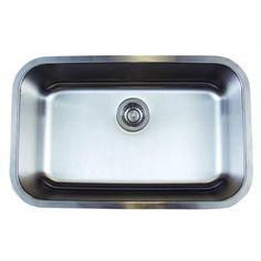 Blanco Stellar Undermount Stainless Steel 28 in. Super Single Bowl Kitchen Sink