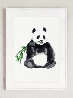 Set of 2Panda Illustration Animal Gift Idea di ColorWatercolor