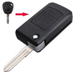 수정 포경 플립 접는 자동차 빈 키 쉘 Lada 3 버튼