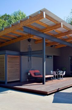 Sawyer Pool House - modern - porch - other metro - Nicholas Design Collaborative