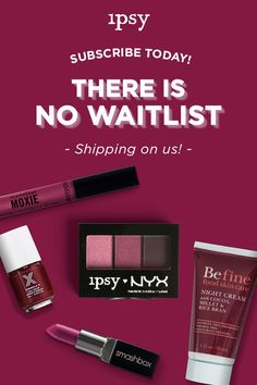 Don't miss out on best-selling brands! Our last Glam Bag had cult faves from IT Cosmetics, Make Up For Ever, Smashbox, NYX and more. For a limited time, there's No Waitlist. Hurry! Sign up now.