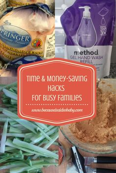 Time & Money Saving Hacks for Busy Families - plus a recipe for super easy 3 ingredients homemade dog treats! This post has so much information on how to use Amazon to your advantage and how to really save time cleaning your house!