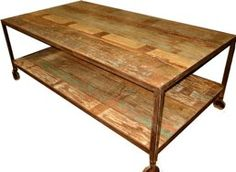 Over the last few years there has been an exciting and creative movement brought on by environmental concerns, to re-use & recycle demolition timber. The uniqueness of the timber with peeling layered paint adds to the individuality of the finished piece. Scrapwood furniture has character, history  and beauty. WANT. Made from scrapwood found from a derelict city in India. $1400