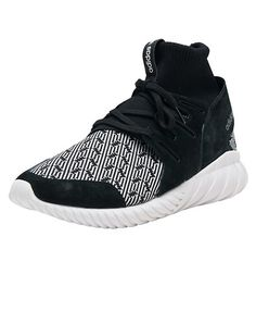 *ADIDAS *Tubular Doom *Men's hight top sneaker *Sock like construction *ADIDAS primeknit upper *Graphic pattern on toebox and heel *ADIDAS Trefoil branded heel cage *EVA outsole for lightweight flexibility and grip