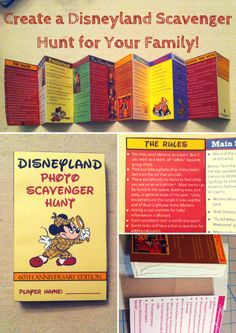 """Create a Disneyland Scavenger Hunt for your family! How-to in """"Disneyland Resort Travel Tips and Tricks"""" on MyPaintingShirt.com"""