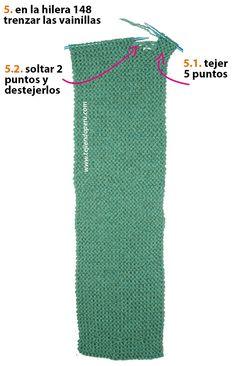 Cuello con trenzas de vainilla - Tejiendo Perú Knitting Patterns Free, Knit Patterns, Free Pattern, Neck Warmer, Leg Warmers, Baby Shower, Ideas Para, Tricot, Pot Holders