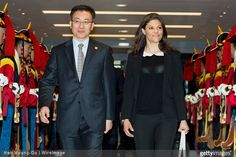 Crown Princess Victoria of Sweden and Prince Daniel of Sweden visits South Korea on March 23, 2015 in Incheon, South Korea.