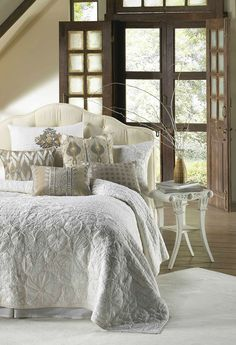 Bloom IV Ivory by Cloud 9 Quilts - BeddingSuperStore.com