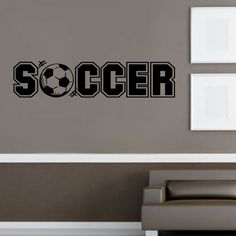"""""""Soccer"""" Wall Decal  www.isigns.ca"""