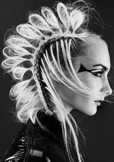 www.esteticamagazine.com | Credits Hairstylist: Sharon Blain Photo: Andrew O'Toole Stylist: Emily Sue Yee Makeup: Rachel Montgomery Creative Designer: Kr Creative Product: Goldwell Hairpieces: Headlines Hairpieces