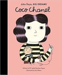 Coco Chanel (Little People, Big Dreams) by Isabel Sanchez Vegara. Large colorful illustrations accent this brief biography of the famous French fashion designer Gabrielle Chanel, known as Coco Chanel. Coco Chanel, Chanel Tote, Style International, International Fashion Designers, Marie Curie, Anne Frank, Rosa Parks, Little People, Little Ones