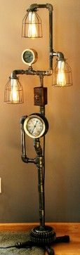 Machine Age Lamps Steampunk Gear Steam Gauge eclectic