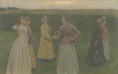 Fernand Khnopff, Memories (Lawn tennis) (Brussel, 1889, Koninklijke Musea voor Schonen Kunsten van België, Brussel)