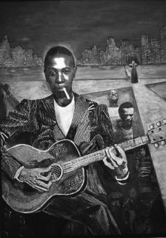 Robert Johnson by Dion Delta Blues, Rhythm And Blues, Blues Music, Guitar Art, Blue Guitar, William Christopher, Female Poets, Robert Johnson, Blues Brothers
