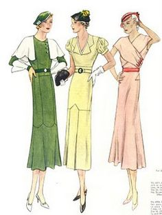 High waisted suits - 1932