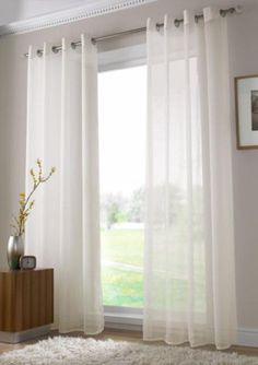 Ring Top Chiffon Cutain Voil Panel Curtain Sheer Curtain Panel Curtain Lace Curatin Drape Curtain Window Curatin Door Curtain in 8 color