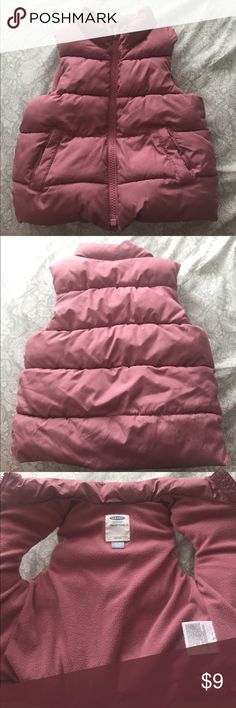 OLDNAVY • baby vest Cold season is coming up & this winter vest will make your daughter warm and stylish! 100% polyester. Very gently used, there is a really tiny stain but you can't really tell (shown in pictures)   ‼️Selling this for my daughter~all funds will go back to her🙂‼️ •Come from a clean/smoke free home •Bundle&Save-10%off 2+ items •Serious inquiries only and NO trade •Everything is FINAL SALE✨ Old Navy Jackets & Coats Vests
