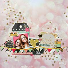 Hip Hip Hooray Layout by Tracee Provis for BoBunny featuring the You're Invited Collection! #BoBunny @fluffyasever