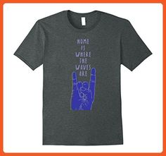 Mens Home Is Where The Waves Are Funny Motivational Surfing Shirt Large Dark Heather - Sports shirts (*Partner-Link)