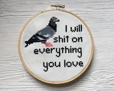 I will sh** on everything you love Cross Stitch Pattern - Instant Download PDF