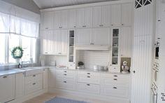 White, rustic kitchen