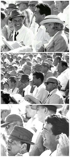 Dean Martin and Frank Sinatra at a Los Angeles Dodgers-Chicago White Sox World Series game,1959 / AS1966