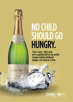 @ONEHOPE Wine launched our new Sparkling wine in support of Share Our Strength's No Kid Hungry Campaign. We are committed to ending childhood hunger. One case of our Sparkling will provide 100 meals to children in need. Great way to give back!