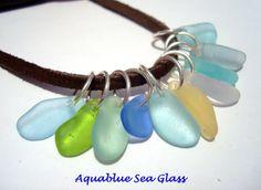 10 Sea Glass  SMALL Top Drilled English  Sea by aquablueseaglass, $23.00