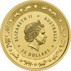 Country : Australia  (Royal Australian Mint) Years : 2016 Purity : .9999 Gold  Denomination : AUD25 Weight : 1/4oz  Diameter : 21.69mm Year Of The Monkey, Gold And Silver Coins, Rare Coins, Elizabeth Ii, Mint, Stamp, Australia, Country, News