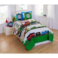 Thomas and Friends Scenic Bedding Comforter Set......way nicer than the Target blue one ...