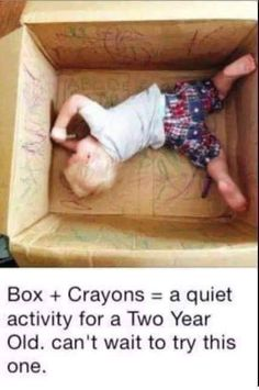 Kids bored from staying home from school too many days in a row? Give them a box & some crayons or markers & let them go at it! Don't have a box big enough to fit them in, give them a few small ones & see what they create. https://www.facebook.com/beautycallingbylisa