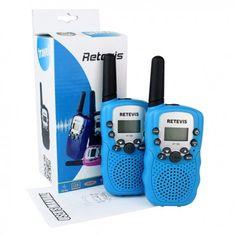 Retevis RT-388 Paire de Talkies Walkies Enfant PMR446 0.5W Ecran LCD Lampe Torch VOX (Bleu Foncé),frais de port offert